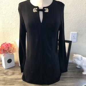Chicos Black Long Sleeve Size 1